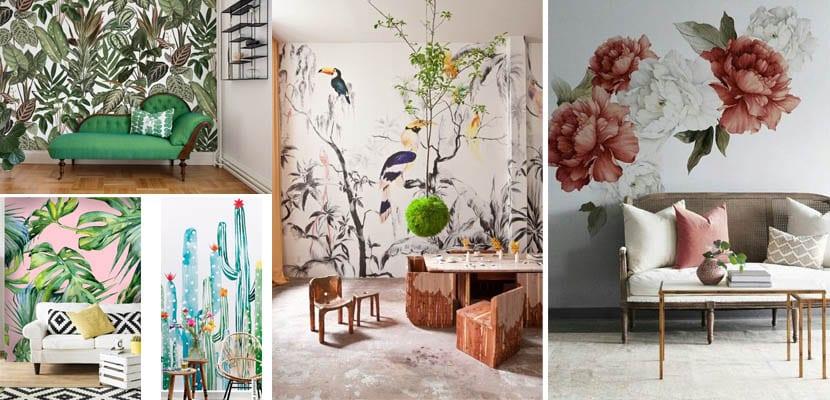 Murales de pared botánicos
