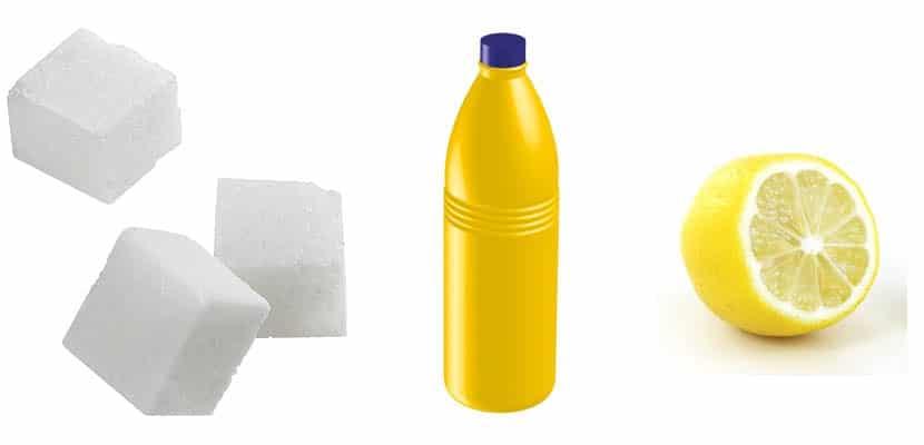 Azúcar, lejía y cítrico