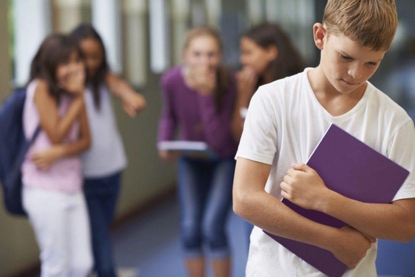 nene victima de acoso escolar