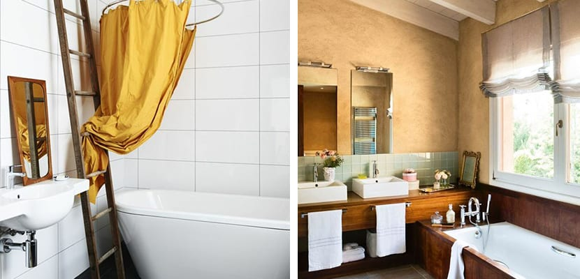 Color ocre en el baño