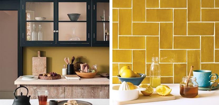 Color ocre en la cocina