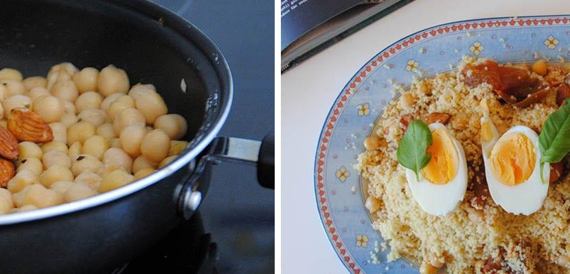 Cuscus con tomates asados y garbanzos