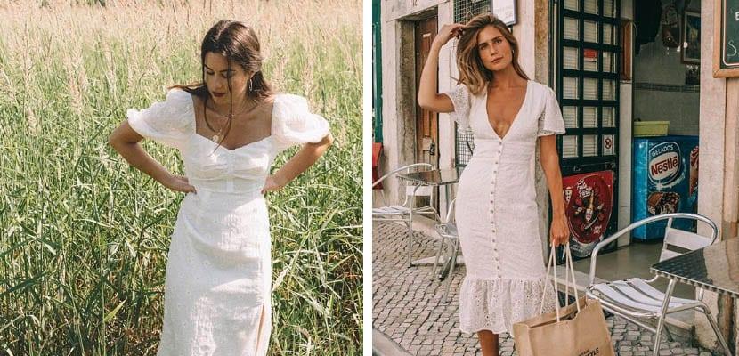Looks con vestido blanco