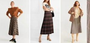 Faldas plisadas de cuadros