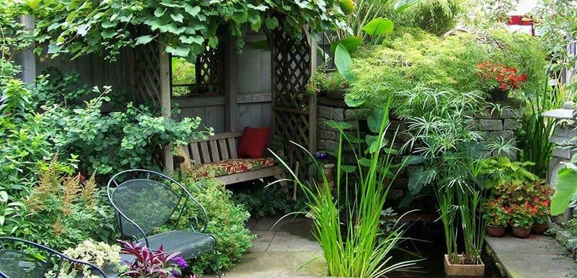 jardines rústicos