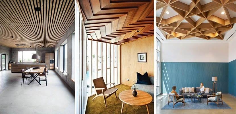 Techos de madera modernos
