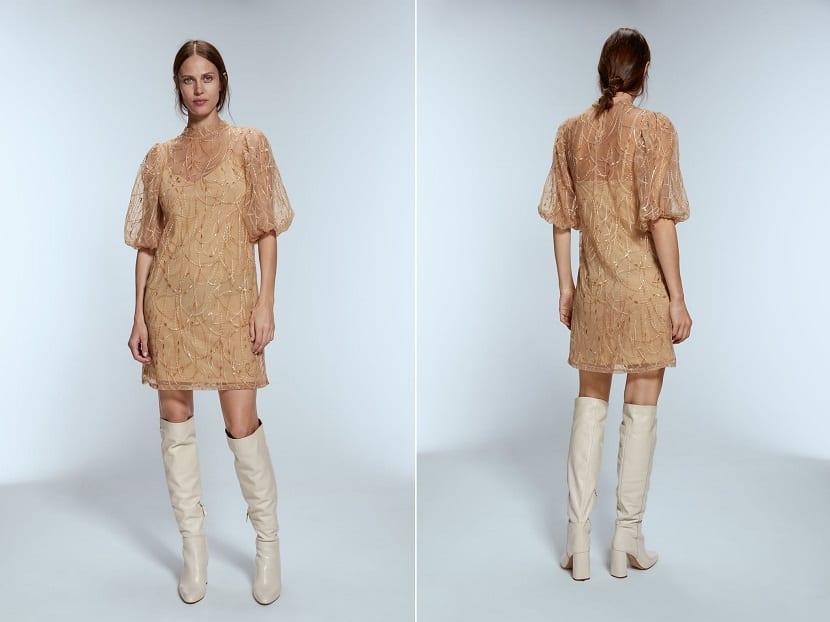 vestido corto zara