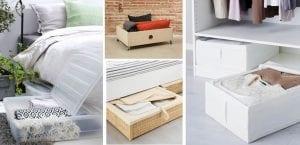 Solucines de almacenaje bajo la cama