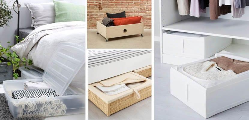 Solucines de almacenamiento bajo la cama