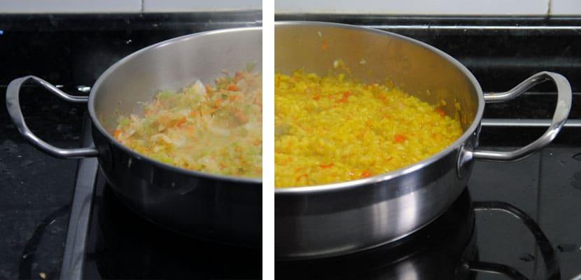 Arroz especiado con calabaza asada y brócoli