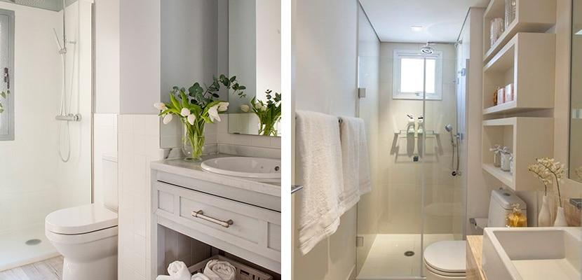 Baños en tonos blancos