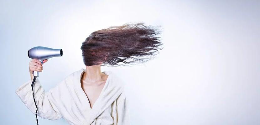 Secador para el pelo fino