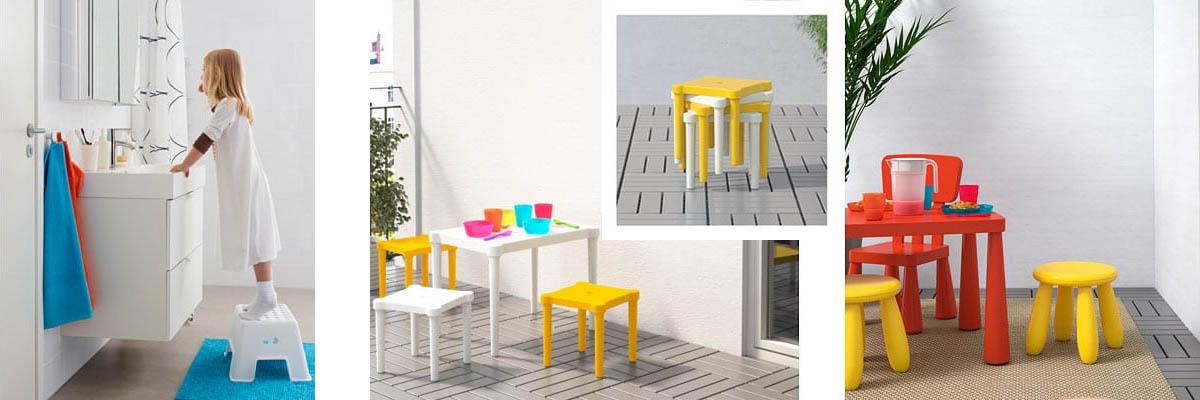 Taburetes de Ikea para niños