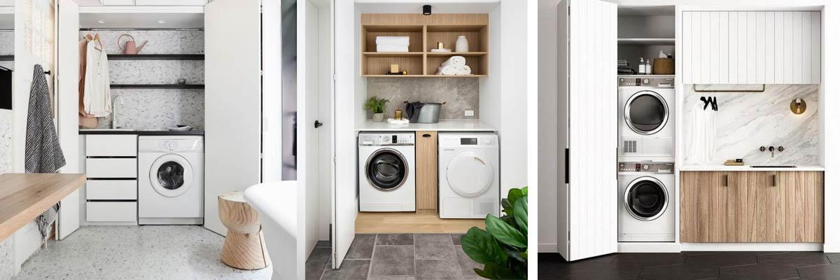 Zona de lavandería en armario