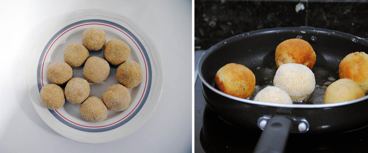 Bolitas de patata y atún