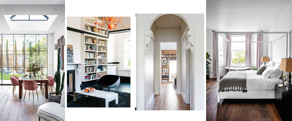 Interiores de casa victoriana