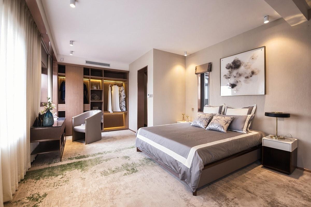 colores gris dormitorio