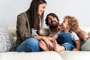 familia con normas en casa