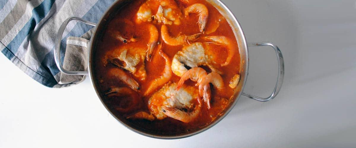 Suquet de merluza y langostinos