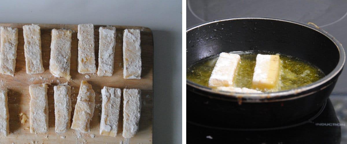 Barritas de polenta y queso