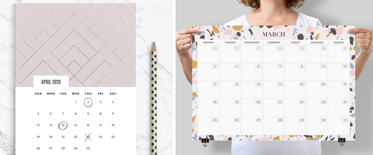 Calendarios imprimibles