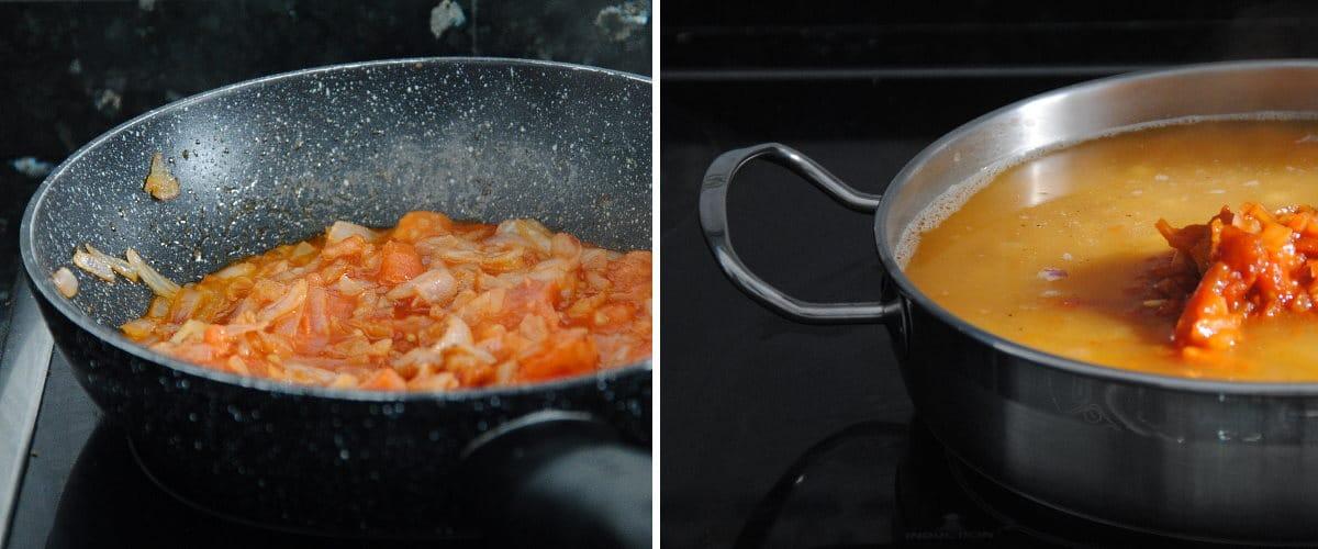 Guiso de garbanzos con zanahoria y espinacas