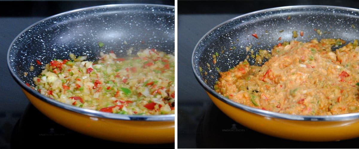 Pasta con salsa de queso crema y tomate