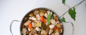 Ragú de pollo y verduras
