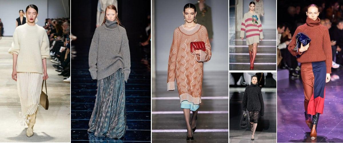 MFW: faldas y jerséis de punto