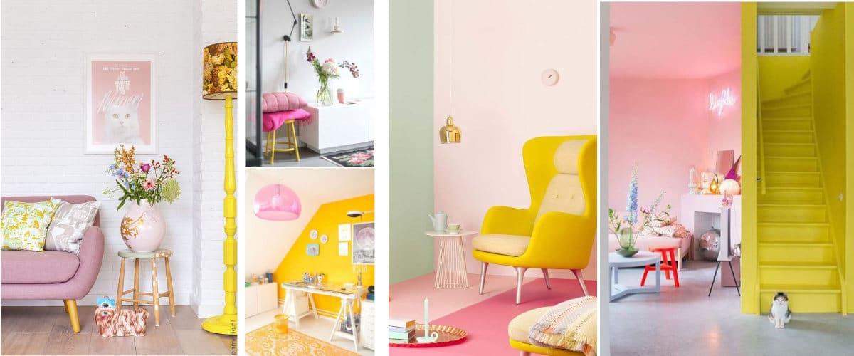 Habitaciones en rosa y amarillo
