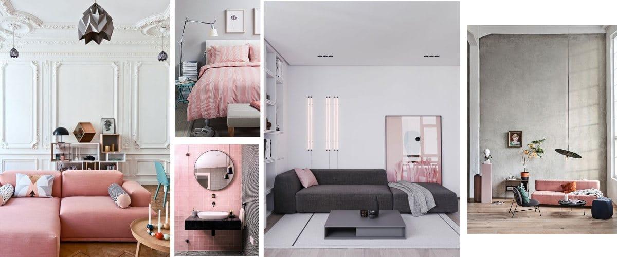 Decoración en tonos rosas y neutros