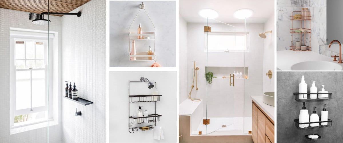 Soluciones de almacenaje para ducha