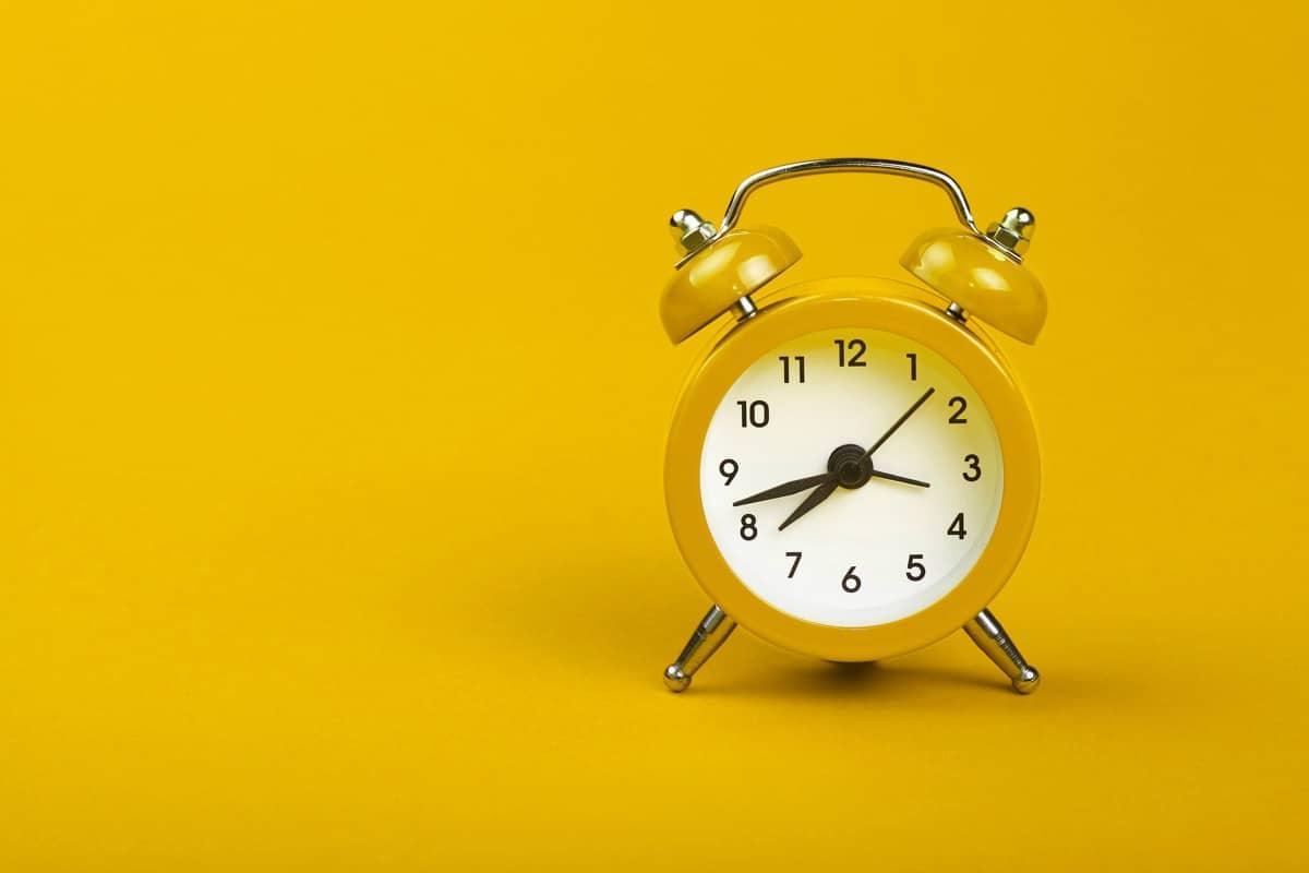 reloj en el cambio de hora
