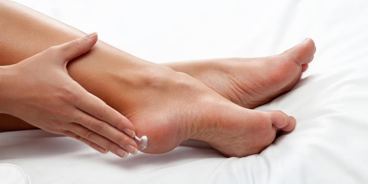 Hidratación de pies