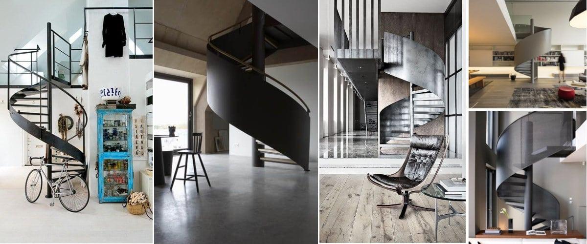 Escaleras de caracol industriales