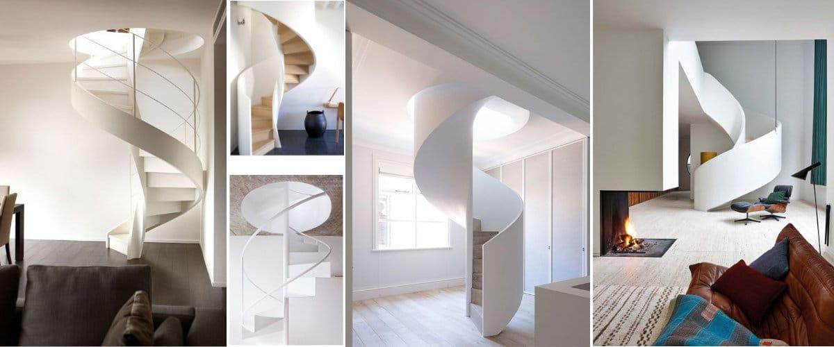 Escaleras de caracol minimalistas
