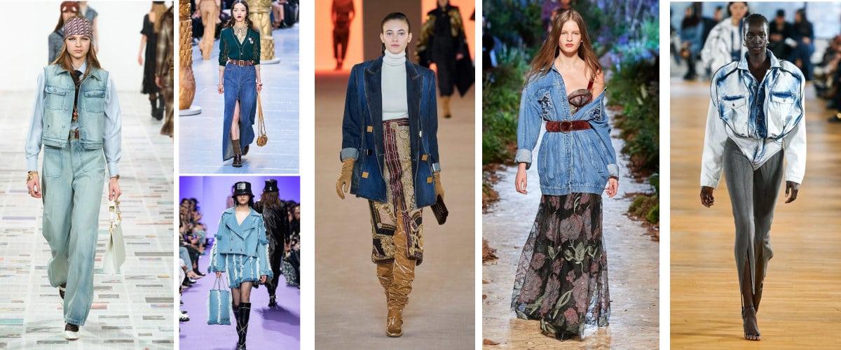 Tejido vaquero en la Paris Fashion Week