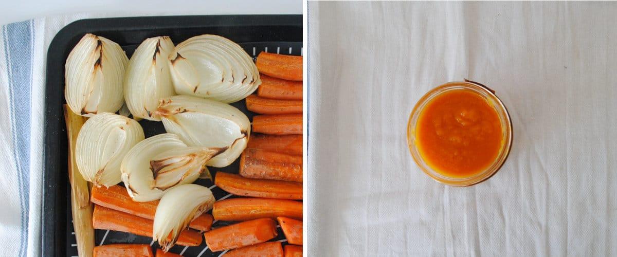 Puré de zanahoria asada
