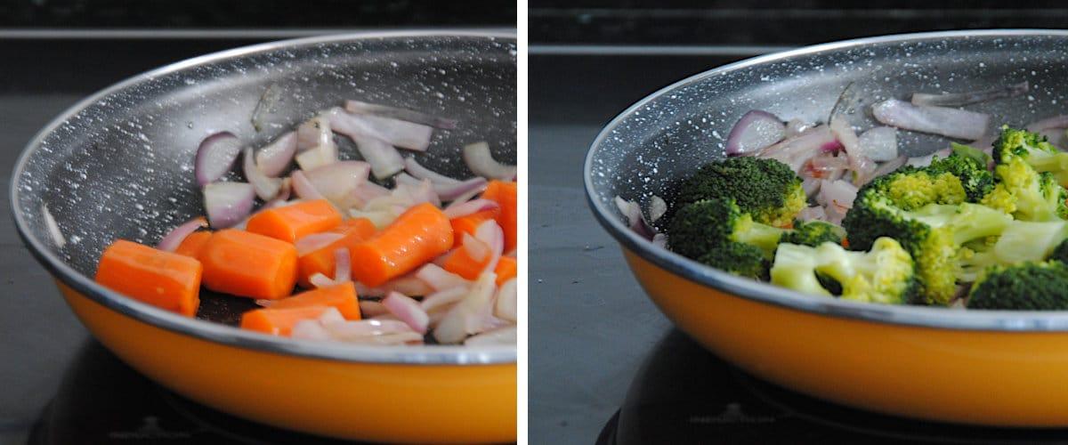 Salteado de brócoli y solomillo de cerdo