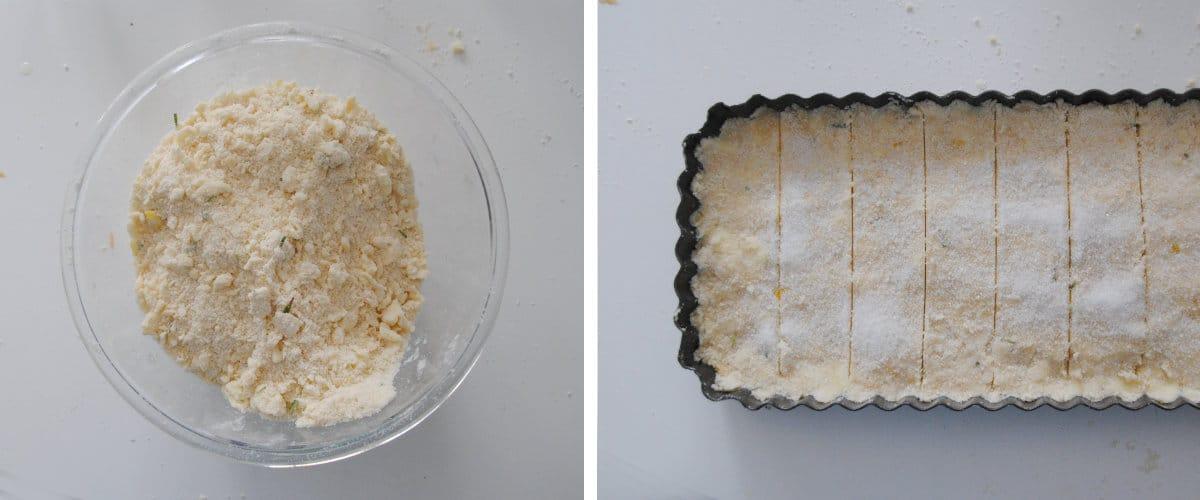 Shortbread de limón y romero