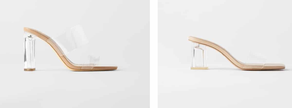 zapatos tacon cristal