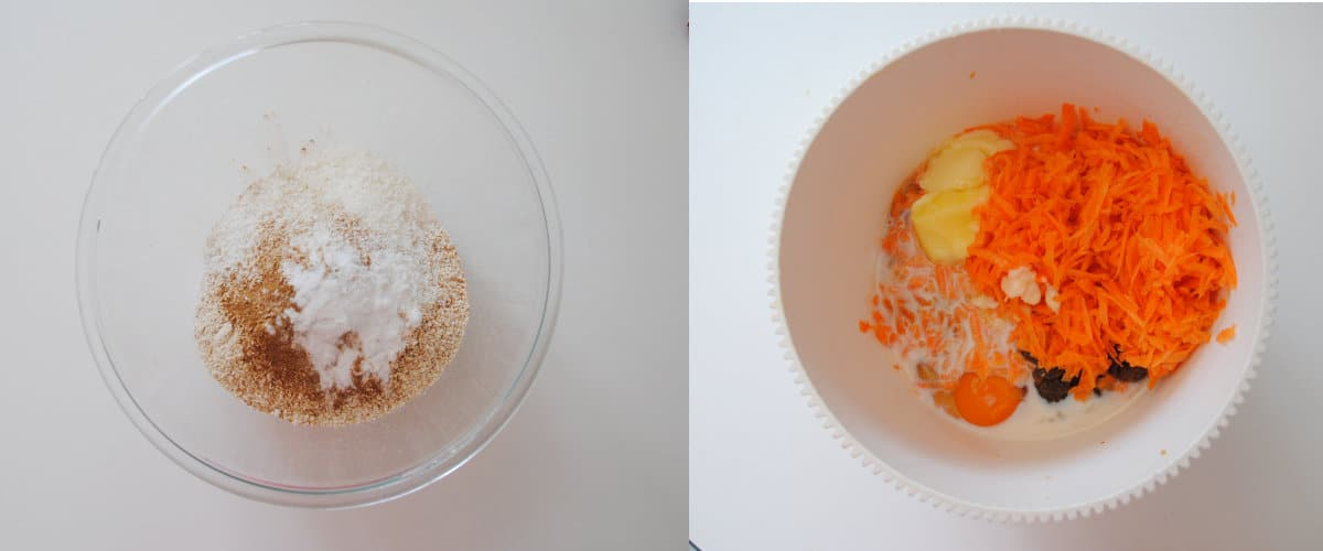 Bizcocho de zanahoria y avena