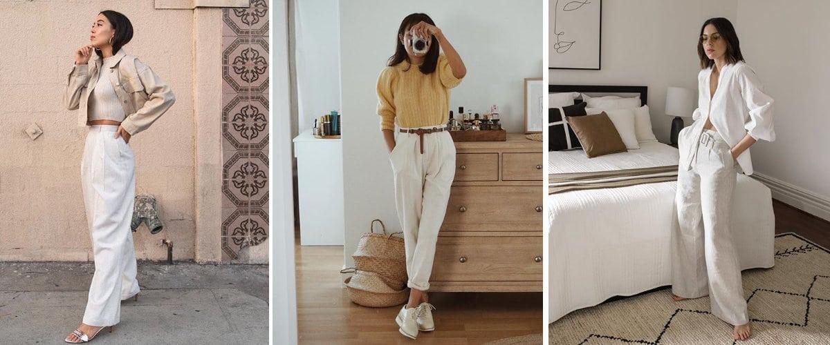 Estilismos con pantalones blancos
