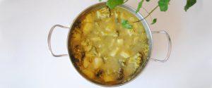 Guiso de brócoli y patata al curry