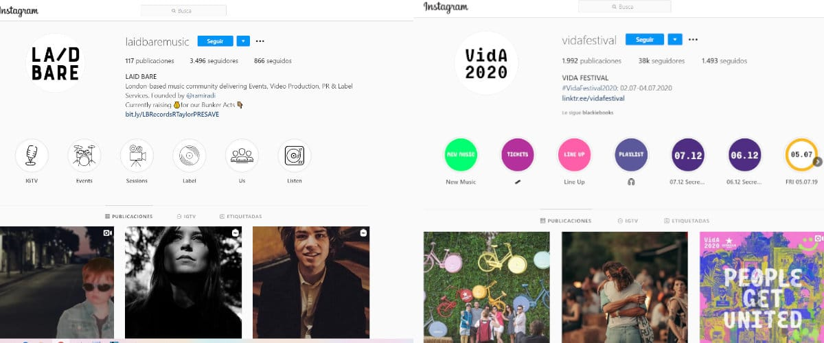 Musica en instagram