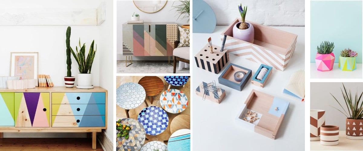 Muebles con dibujos geometricos