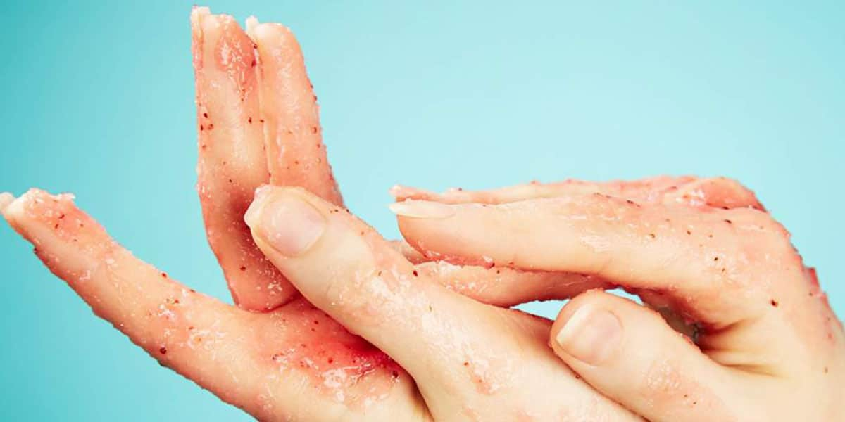 Exfoliante de manos
