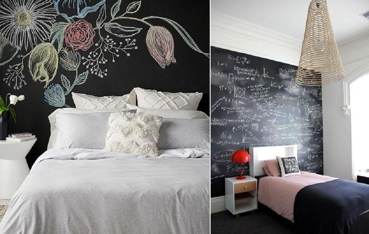 paredes pìzarra dormitorio
