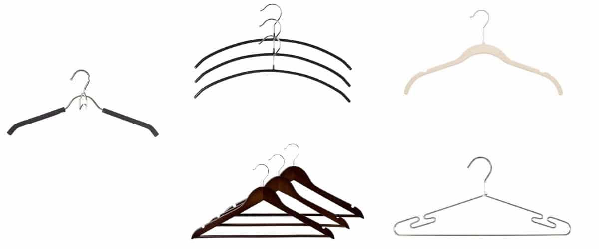 Perchas para camisetas, camisas y vestidos de tirantes finos