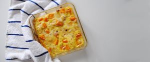 Pastel salado de calabaza y queso